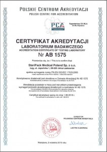 Accreditation Certificate Poland